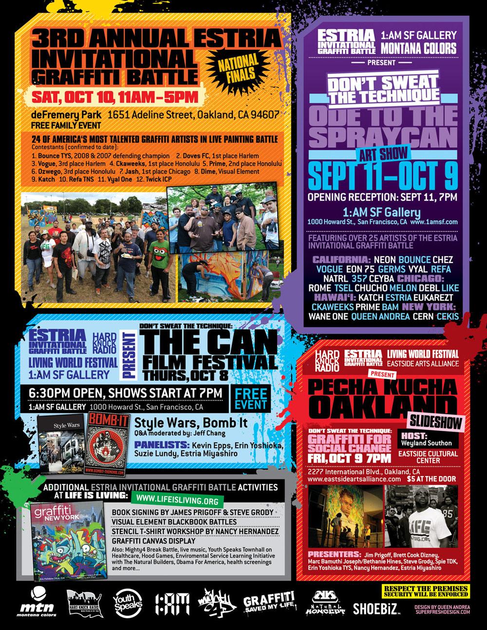 stria's Graffiti Battle and Film Festival 2009 - Oakland, CA.