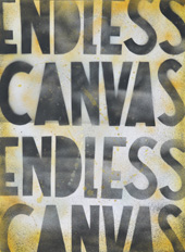 Endless Canvas Stencil Poster.