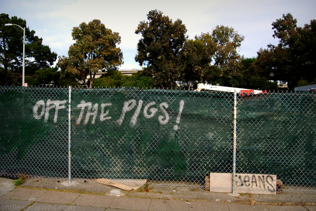 off the pigs graffiti.
