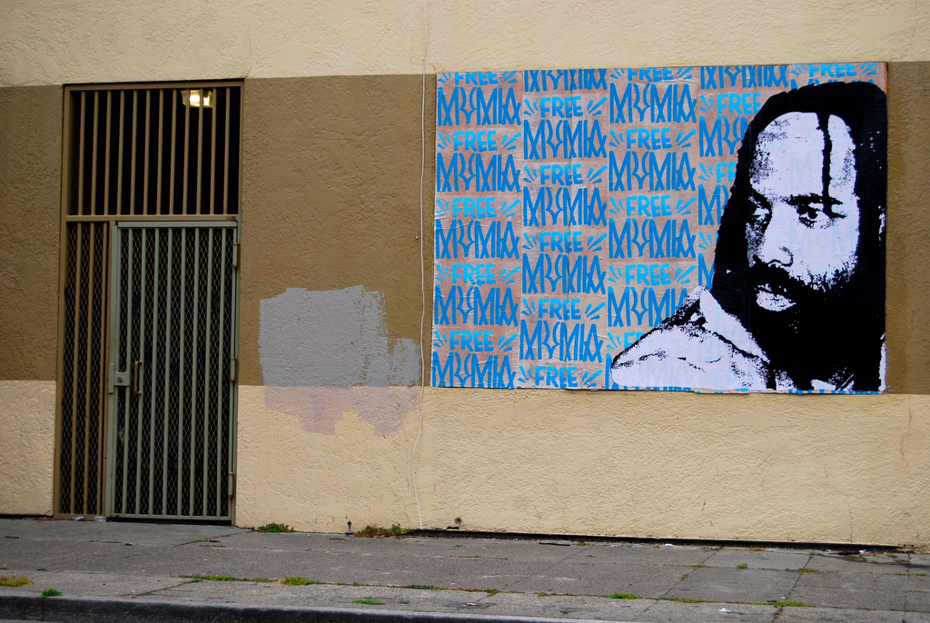 FREE MUMIA Graffiti - Happy Birthday Mumia AbuJamal.