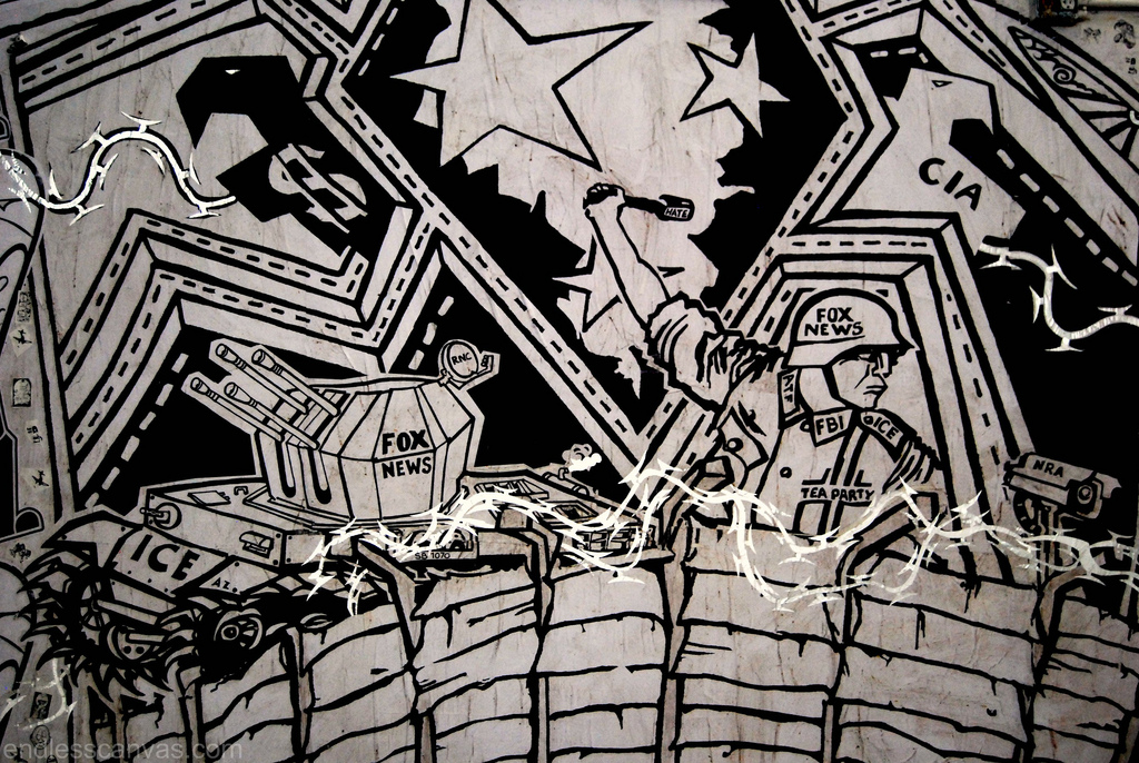 Gridlock wheatpaste special delivery. 