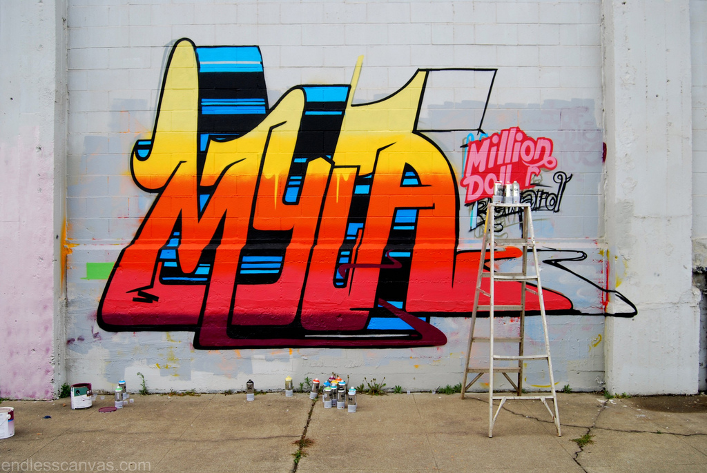 MYLA Graffiti Piece.