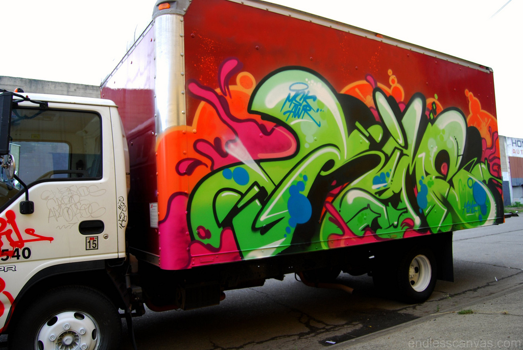 RIME Msk Graffiti Truck in Oakland California.