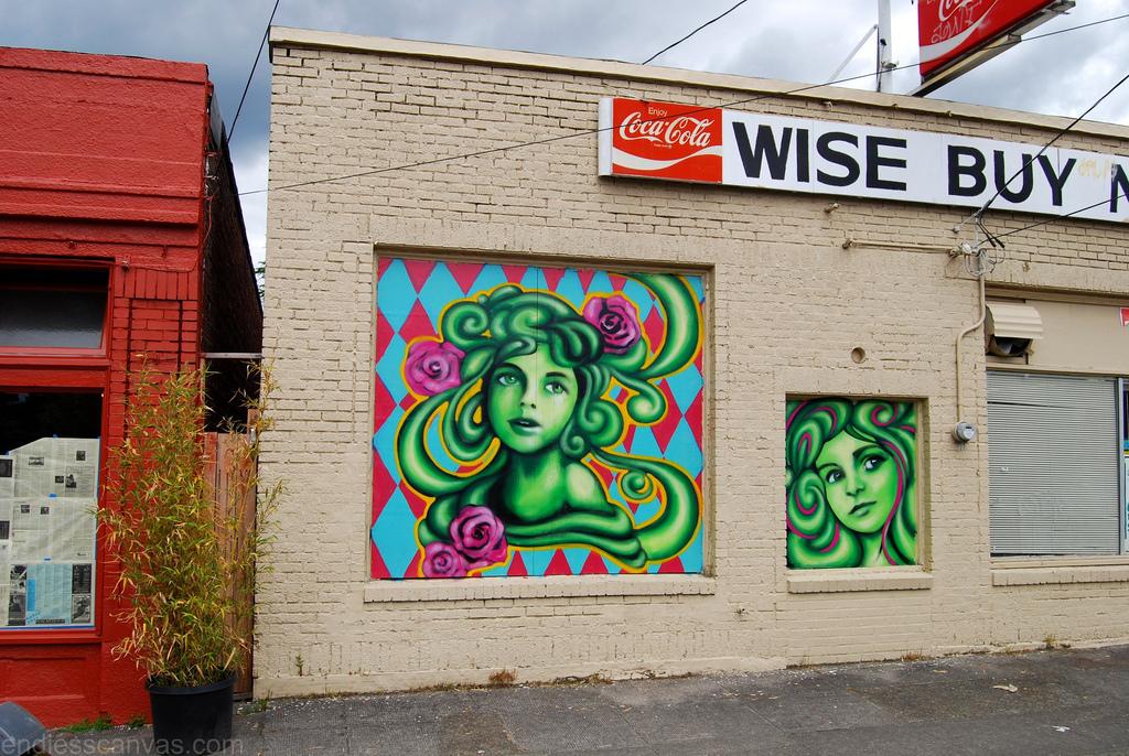 Jules Muck Graffiti Mural.