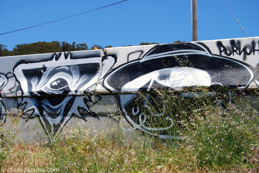 Pink Eyes Graffiti.