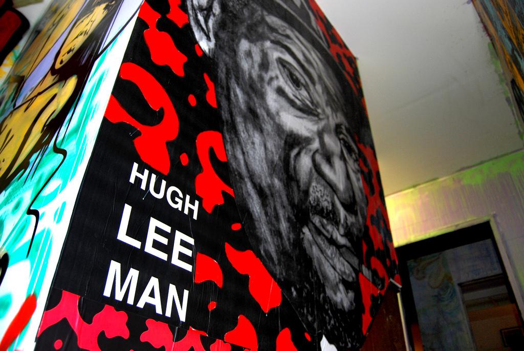 Hugh Leeman Wheatpaste Installation.