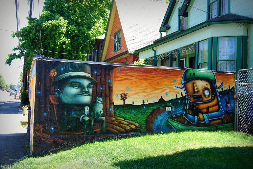 Portland Mural Street Art.