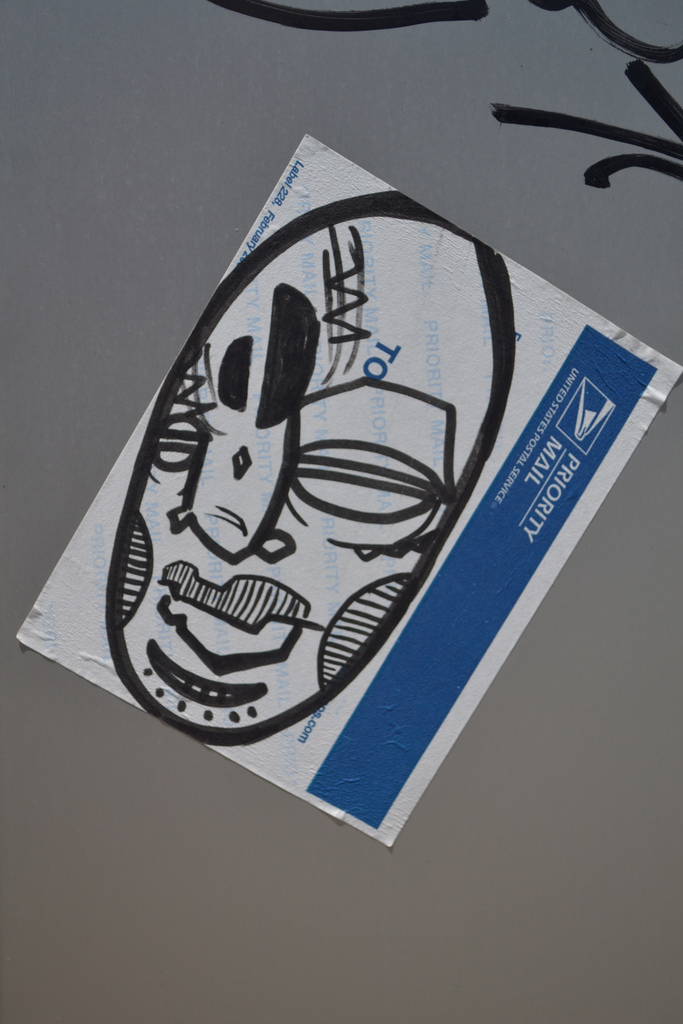 Dead Eyes Street Art Sticker.