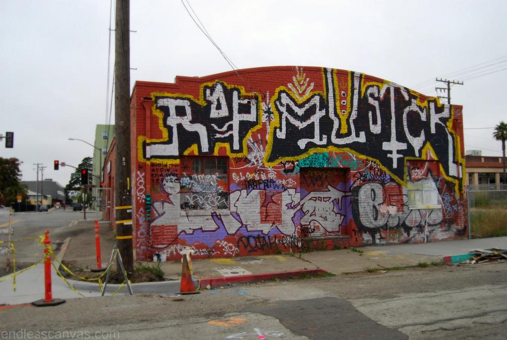 Rap Musick Illegal Trouble Graffiti.