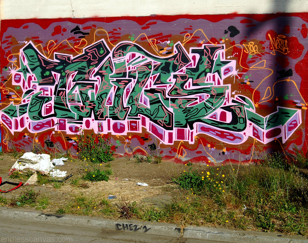 Twigs Graffiti Piece Oakland CA.