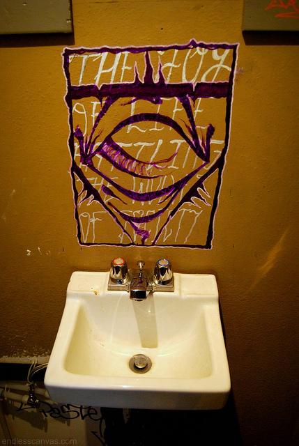 Pink Eyes Graffiti Portland OR.