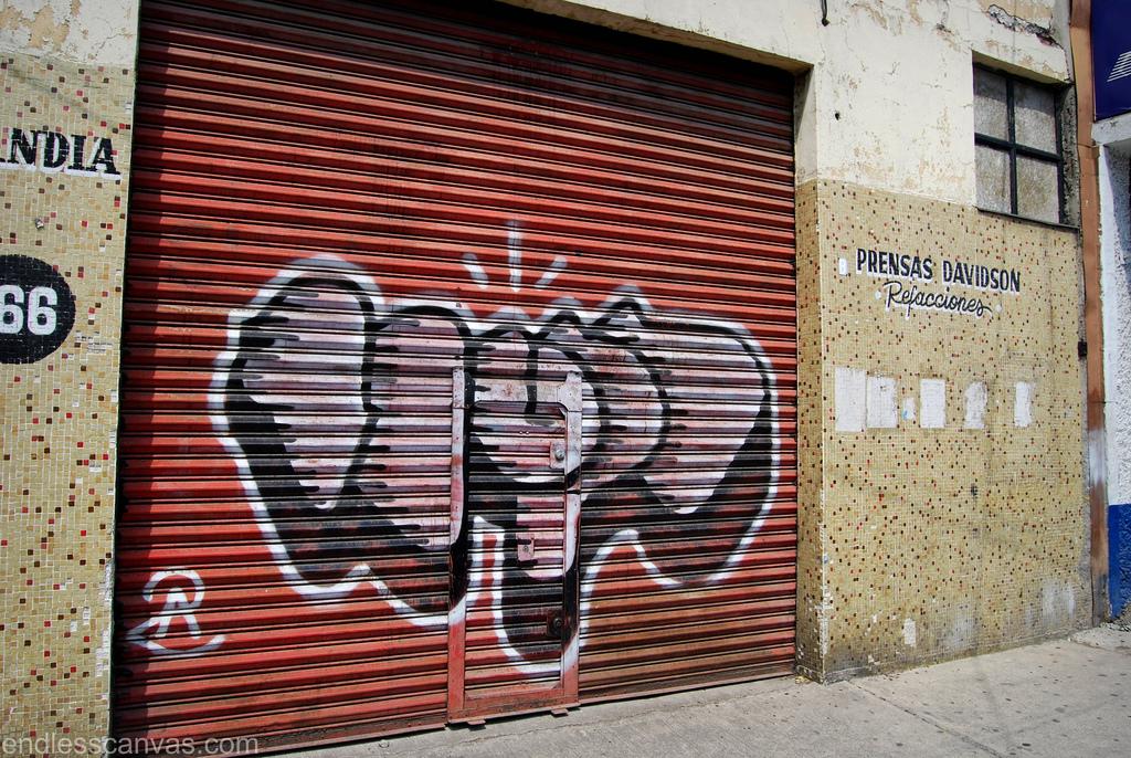 Distrito Federal Mexico Graffiti.