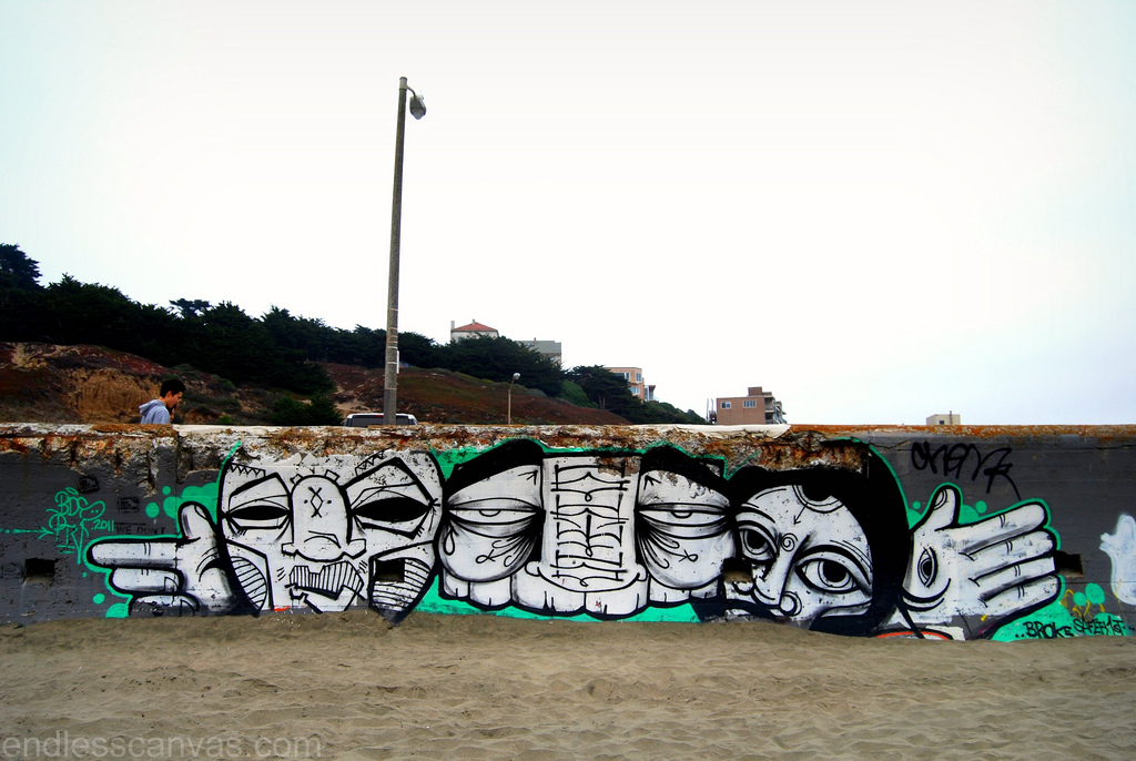 GATS Dead Eyes Ras Terms Graffiti San Francisco.