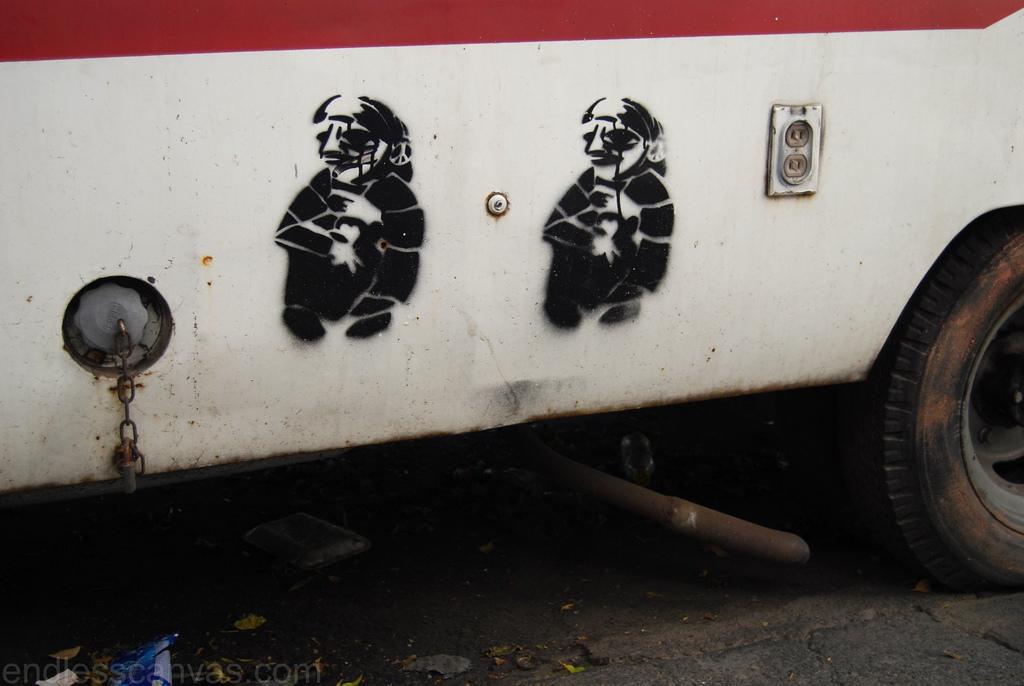 Stencil Art Mexico City Distrito Federal.