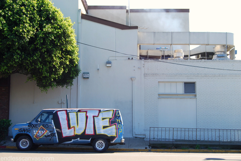 Luter ATB Graffiti Van East Bay CA.