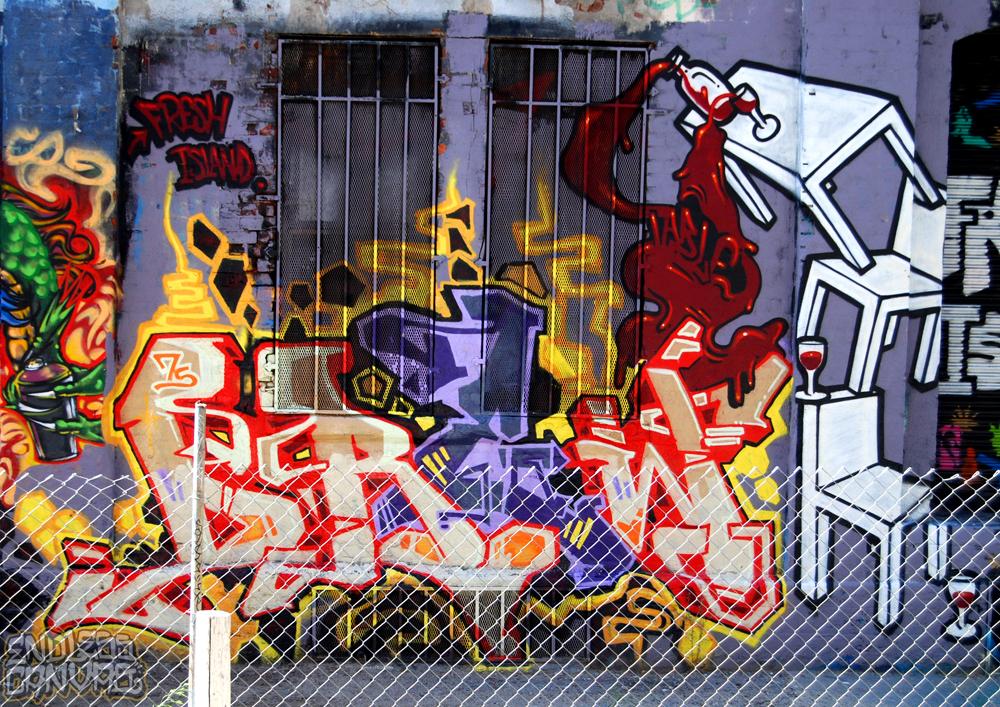 Drew Table graffiti.