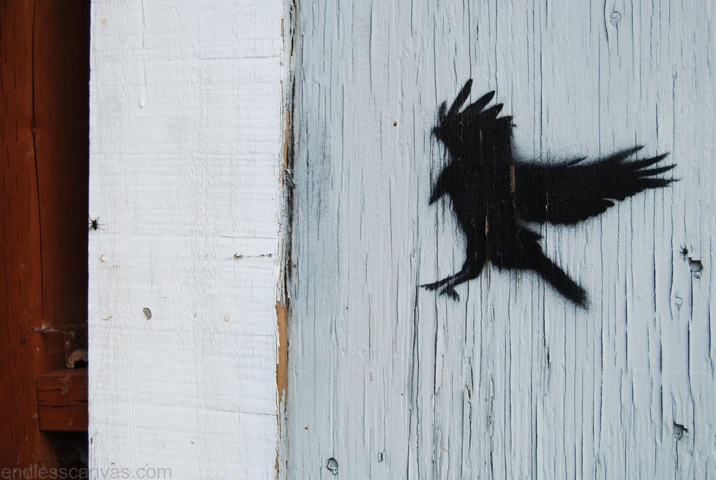 Bird stencil portland or.