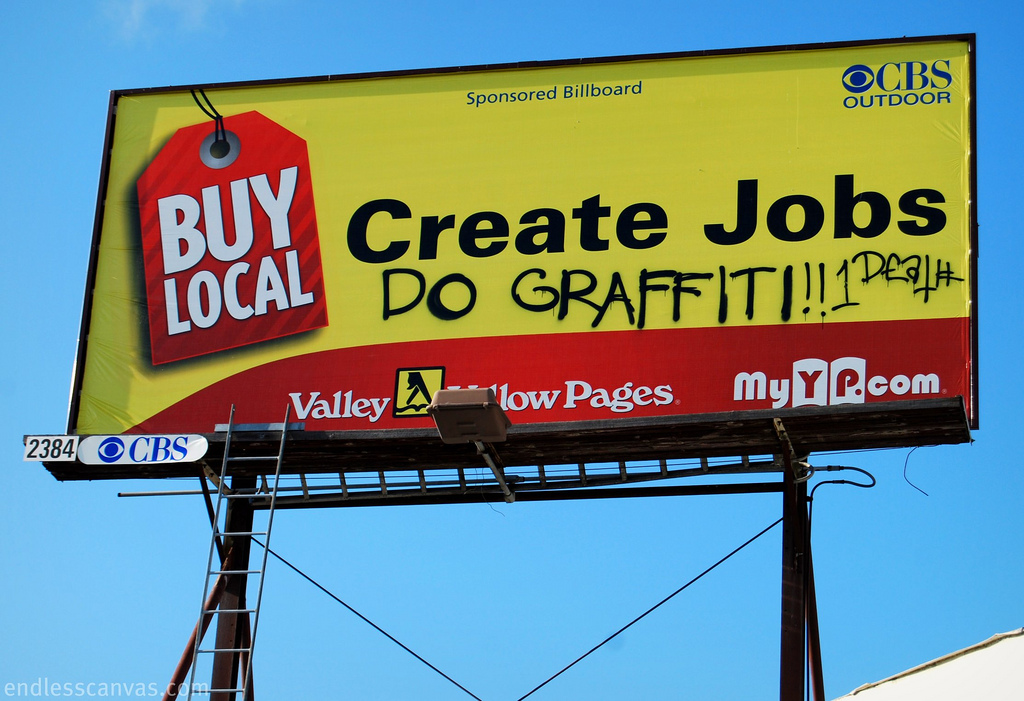 Create Jobs Do Graffiti Billboard.