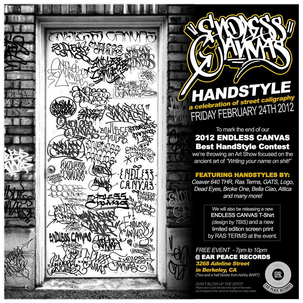 Endless Canvas Handstyle Art Show.