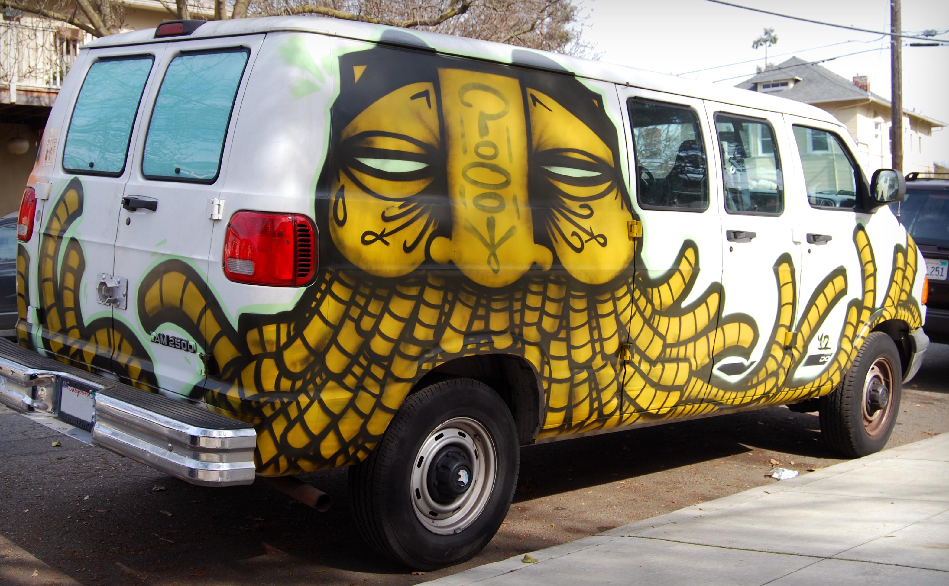 Graffiti Vans Logo Gats Van Graffiti Oakland ca