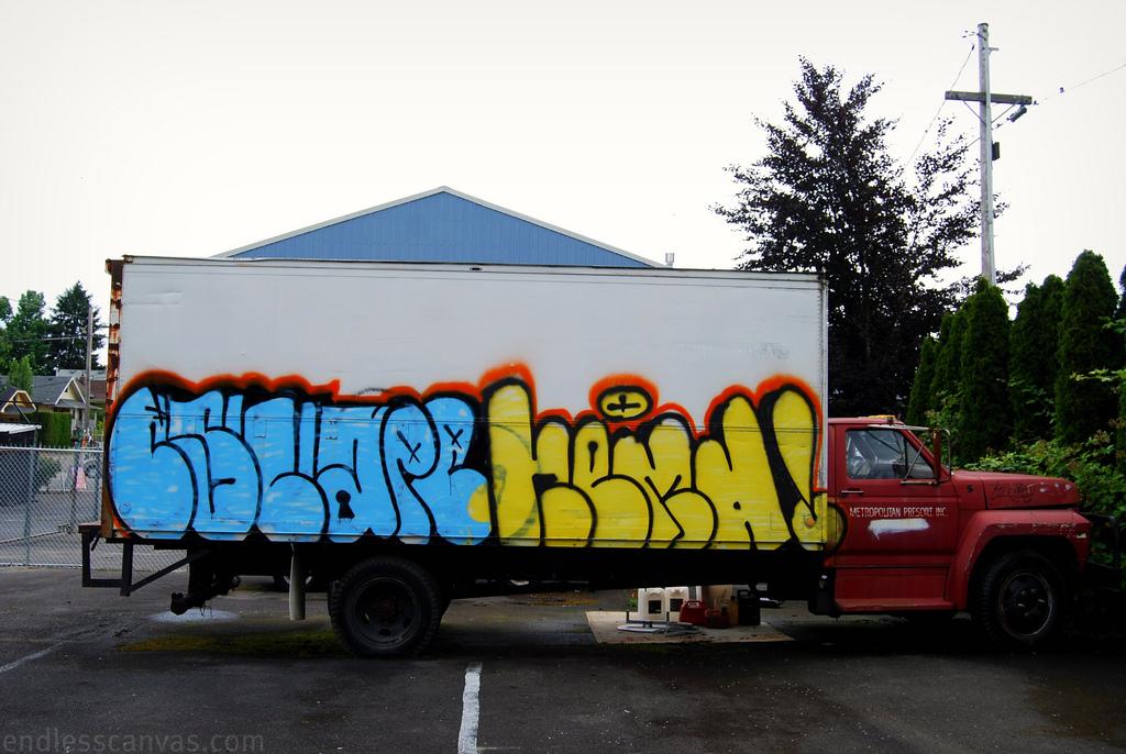 Escape Truck Graffiti Portland OR.