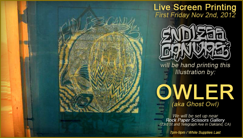 Ghost Owl Street Art Poster.