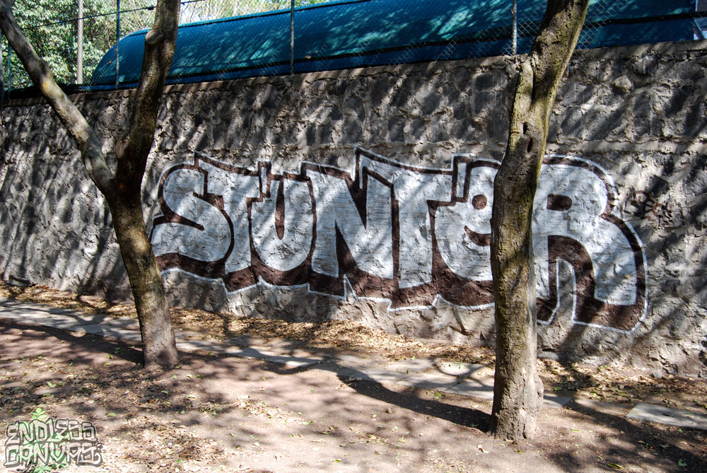 Stunter Graffiti Mexico City. 