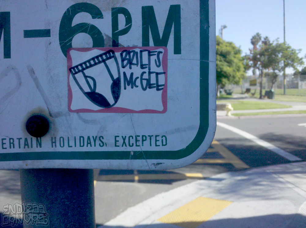 BRIEFS MCGEE Sticker San Diego CA.