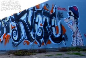 Logo Hipsters Graffiti Oakland CA.