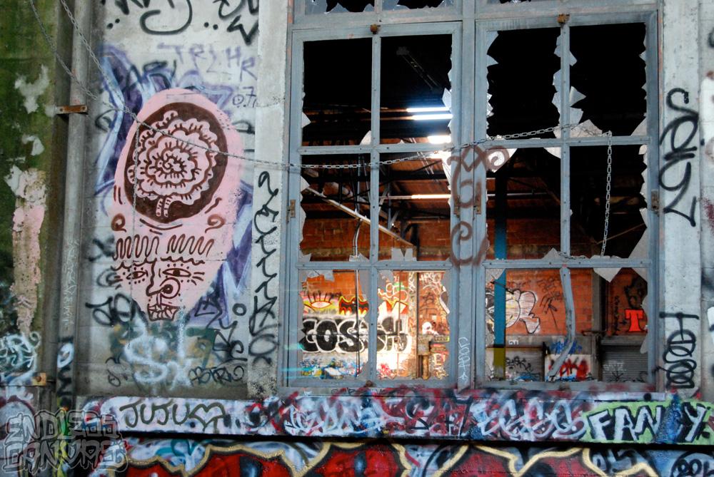 Just Becauz Character Graffiti - East Bay CA.