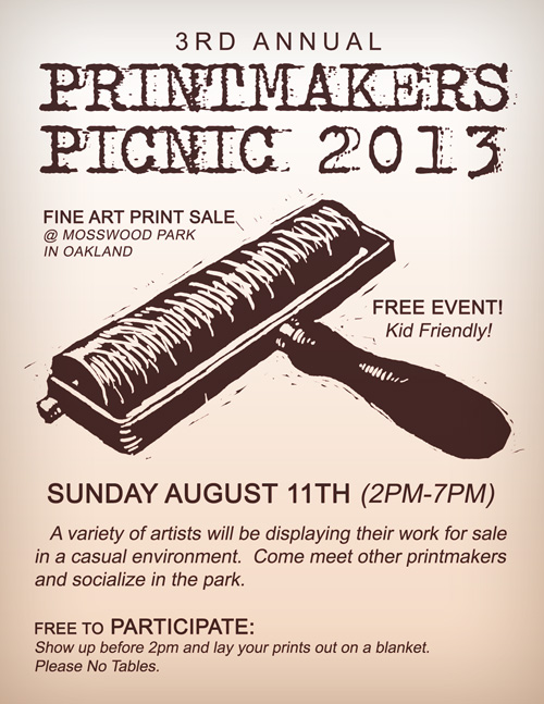 3rd Annual Printmakers Picnic 2013.