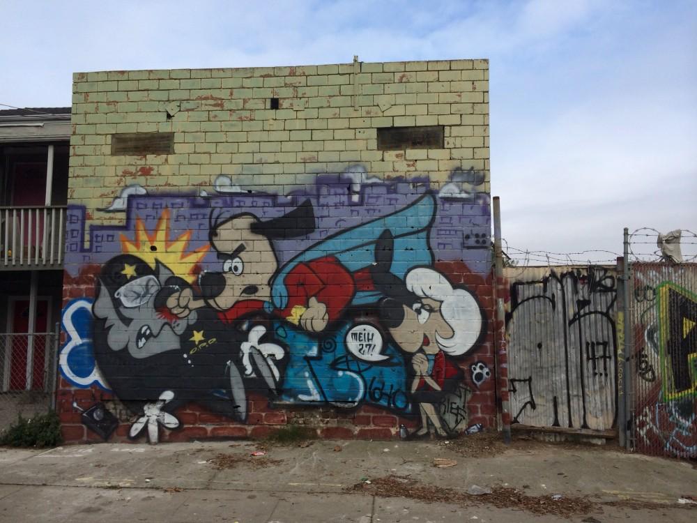 Oakland graffiti.