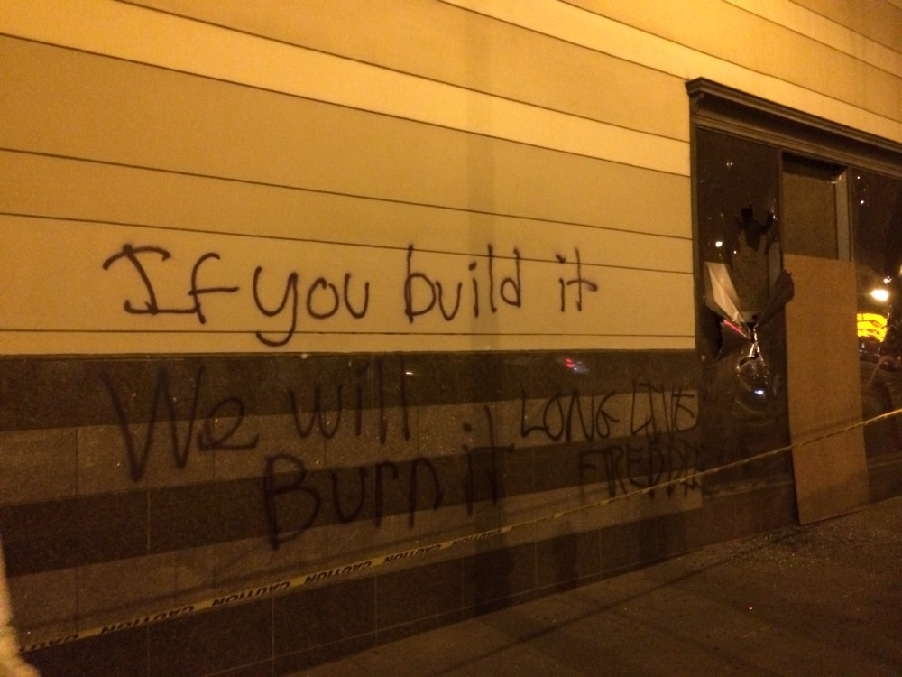 Anti gentrification graffiti.
