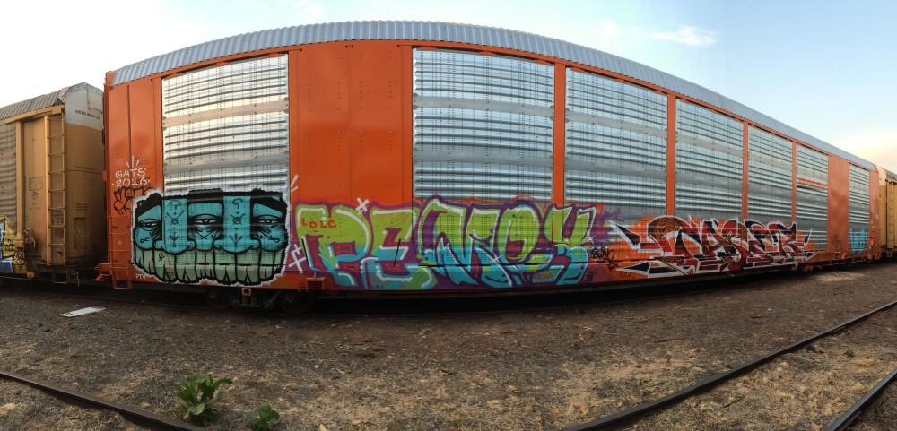 Gats Pemex Graffiti Jalisco Mexico.