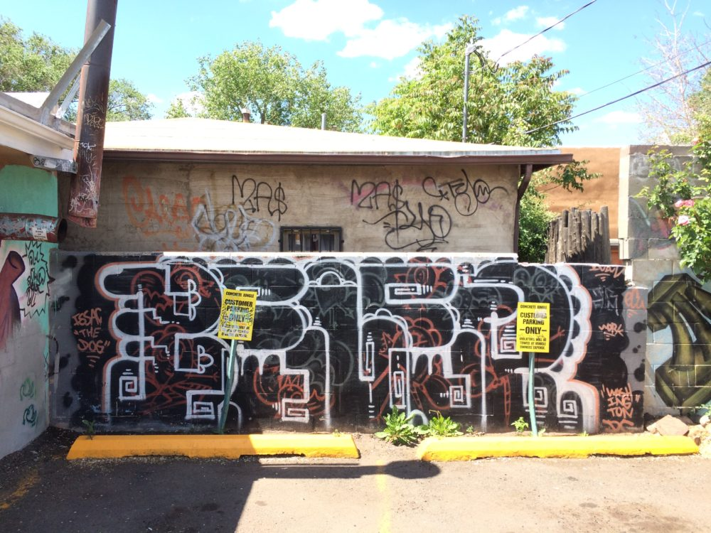 Santa Fe New Mexico graffiti.