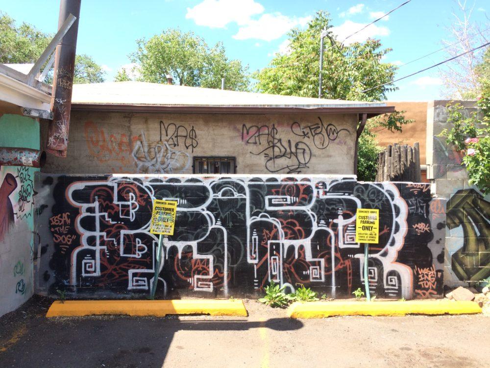 Santa Fe New Mexico graffiti.