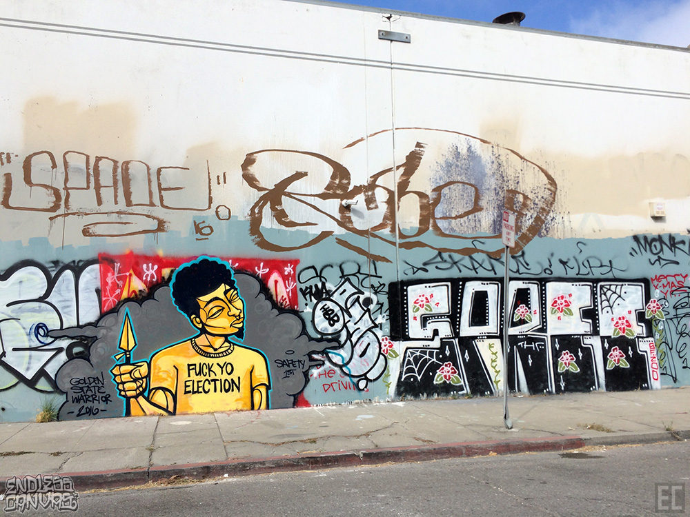 Golden State Warrior Spree Graffiti East Bay CA.