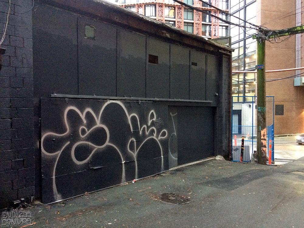EK Graffiti Vancouver BC Canada.