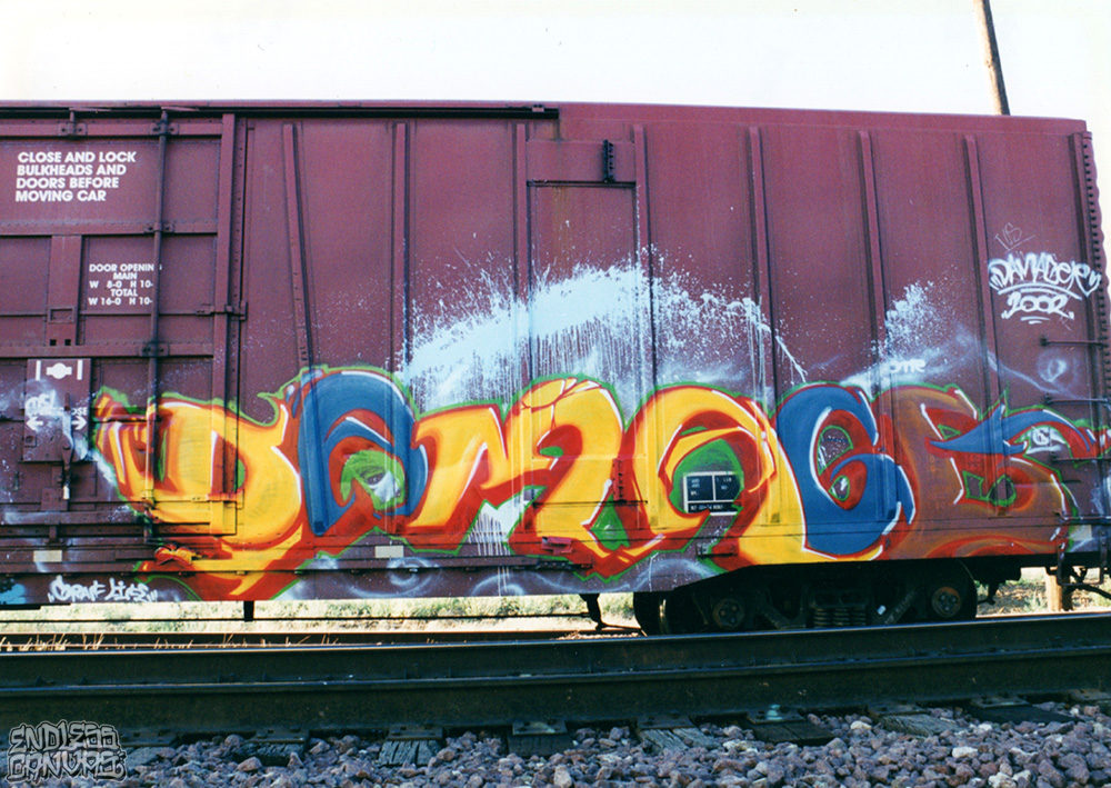 Damager Train Graffiti 2002.