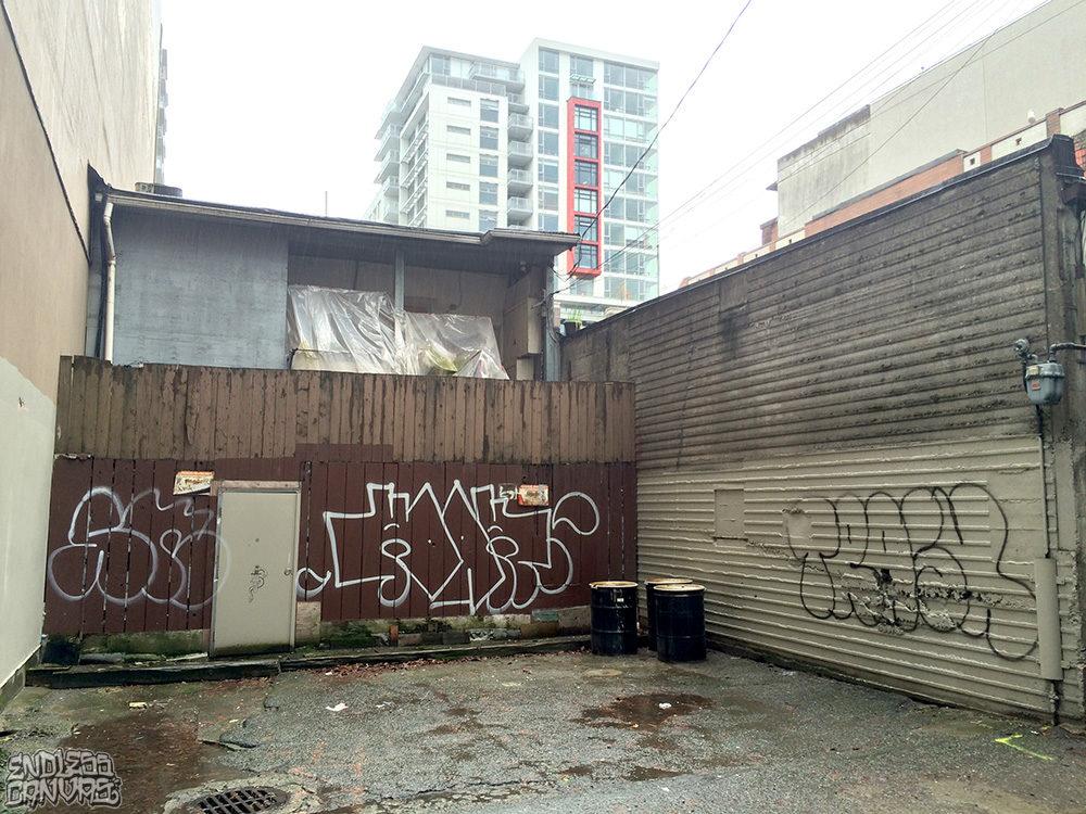 SN KOAK TRASH Graffiti Vancouver Canada.