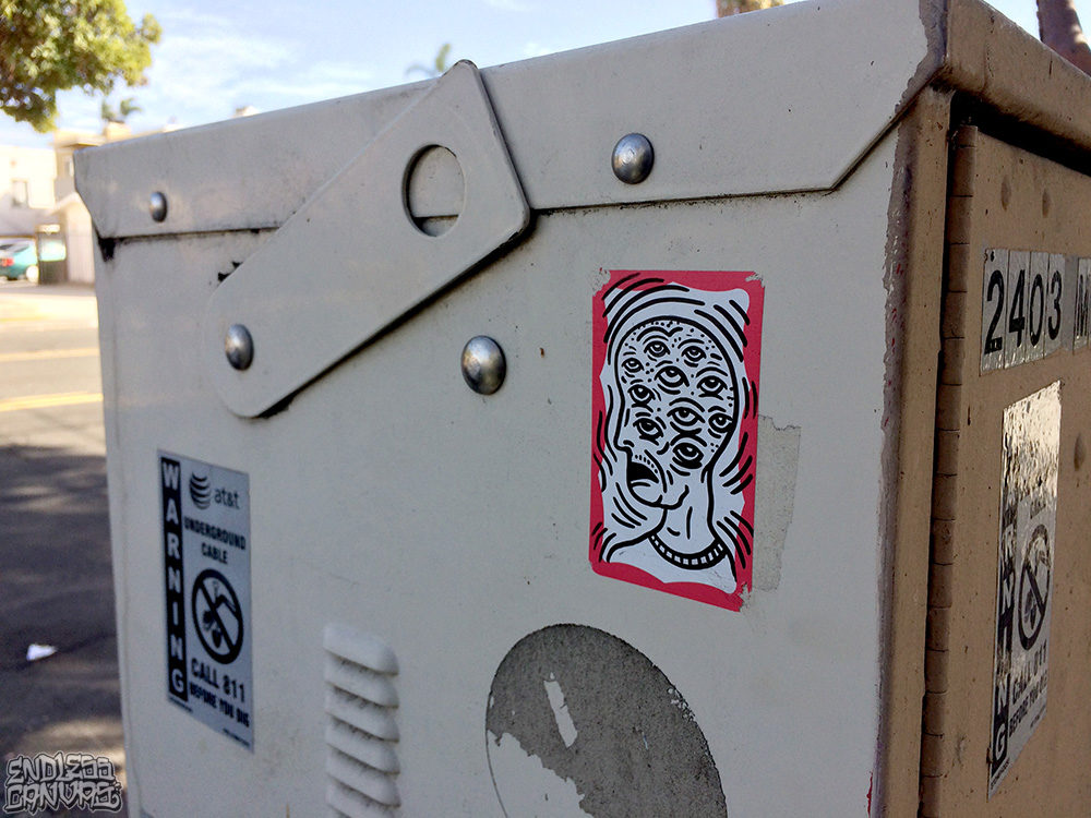 Unknown Sticker Art San Diego North Park California.