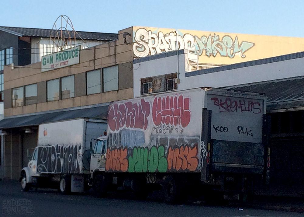 Spade Meih Wide Mrs Korup Graffiti Truck Oakland CA.