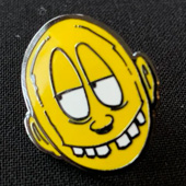 Smiley pin by Broke PTV.